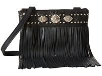 American West Saratoga Fringe Crossbody Black Cross Body Handbags