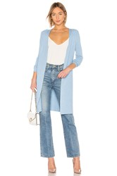 525 America Ribbed Open Cardigan Baby Blue