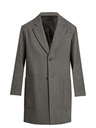 Ami Alexandre Mattiussi Oversized Wool Blend Coat Grey