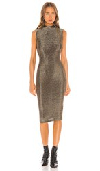 Rta Bandit Dress In Metallic Gold.