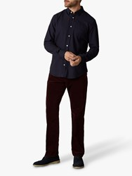 Jaeger Five Pocket Corduroy Trousers Burgundy
