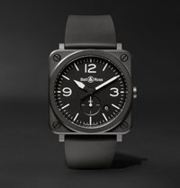 Bell And Ross Br S 39Mm Ceramic Rubber Watch Black