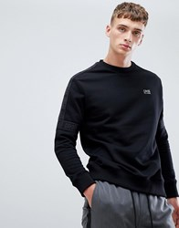 Class Roberto Cavalli Sweatshirt In Black With Logo Taping
