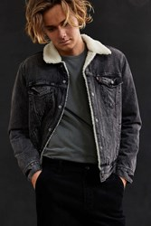 Levi's Denim Sherpa Jacket Black