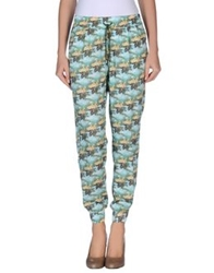 Emma Cook Casual Pants Turquoise