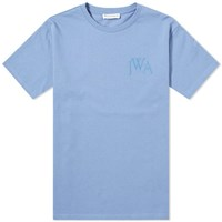 J.W.Anderson Jw Anderson Jwa Logo Embroidered Tee Blue
