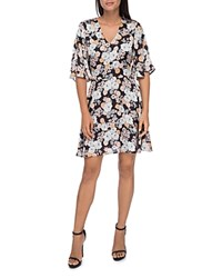 B Collection By Bobeau Florice Floral Flare Sleeve Dress Stencil Floral