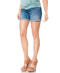 A Pea In The Pod Cuffed Denim Maternity Shorts