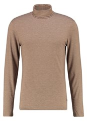 Casual Friday Long Sleeved Top Camel