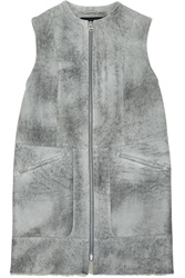 Mcq By Alexander Mcqueen Flecked Shearling Vest