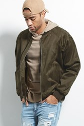 Forever 21 Eptm. Faux Suede Bomber Olive