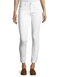 Ag Jeans Distressed Skinny Ankle One Year White