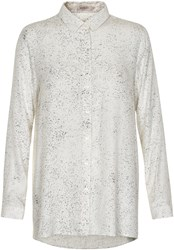 Soaked In Luxury Print Shirt White