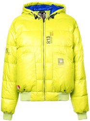 R 13 R13 Hooded Puffer Jacket Yellow And Orange