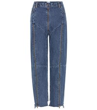 Vetements High Rise Distressed Jeans Blue