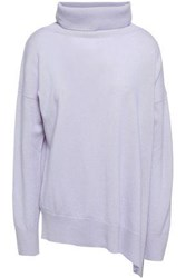 Charli Nicole Wool And Cashmere Blend Turtleneck Sweater Lilac