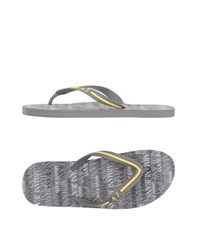 Armani Jeans Footwear Thong Sandals Men Grey