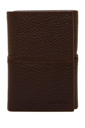 Cole Haan Pebble Leather Trifold Wallet Chocolate