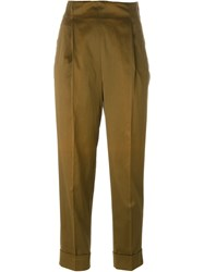 Romeo Gigli Vintage High Waisted Trousers Brown