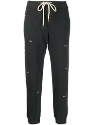 The Great Great. Bow Embroidered Track Trousers Grey