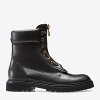 Bally Women's Leather Combat Boot In Black
