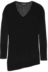 Magaschoni Ribbed Cashmere Sweater Black