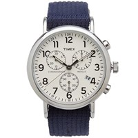 Timex Archive Weekender Chrono Watch Blue
