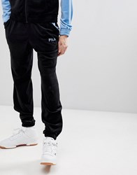 Fila Black Line Velour Slim Joggers In Black
