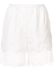 Faith Connexion Lace Trim Shorts Women Silk Polyamide M White