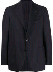 Gabriele Pasini Striped Single Breasted Blazer 60