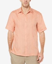 Cubavera Men's Corded Linen Shirt Shrimp