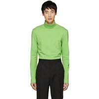 Calvin Klein 205W39nyc Green Logo Turtleneck