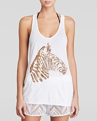 Milly Zebra Swim Cover Up Tank