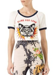 Gucci Cat Applique Tee White