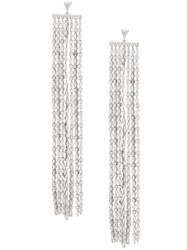 Fallon Monarch Waterfall Earrings Silver