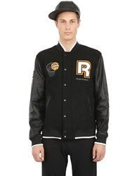 Reebok Wool And Nylon Pump Varsity Jacket