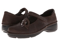 Naot Footwear Primrose Mine Brown Leather Shiitake Patent Leather Women's Maryjane Shoes