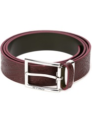 Etro Buckle Fastening Belt Red