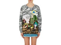 Marc Jacobs Women's Embellished Camouflage Print French Terry Sweatshirt No Color