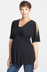Women's Maternal America Split Sleeve Maternity Nursing Top