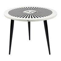 Fornasetti Sole Raggiante Table With Wooden Legs 60Cm Dia