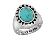 Lucky Brand Turquoise Ring Medium Grey Ring Gray