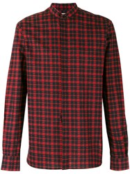 Saint Laurent Checked Button Up Shirt Black