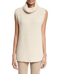 Iris Von Arnim Knit Cashmere Turtleneck Sweater Sand