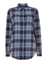 Label Lab Walken Acid Wash Check Shirt Multi Coloured Multi Coloured
