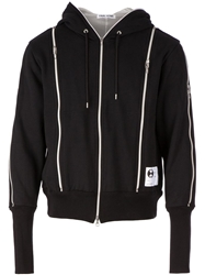Final Home Zip Detail Hoodie Black