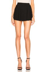 Anthony Vaccarello Full Front Pleat Skort In Black