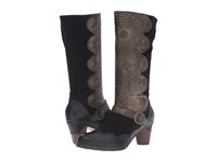 Spring Step Pancas Black Women's Pull On Boots
