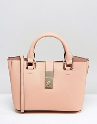 Dune Divinie Tote Bag With Crossbody Strap Blush Gold Pink