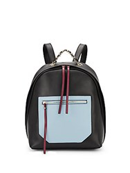 Christopher Kon Kramer Colorblock Leather Backpack Black